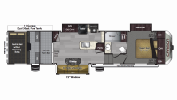 2019 Carbon 364 Floor Plan
