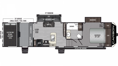 2019 Carbon 337 Floor Plan Img