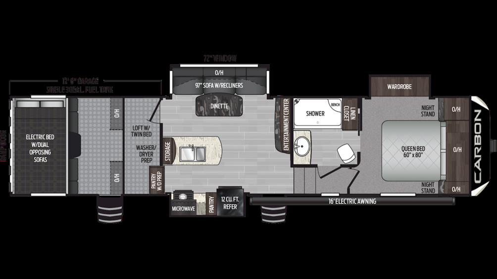 2019 Carbon 347 Floor Plan Img