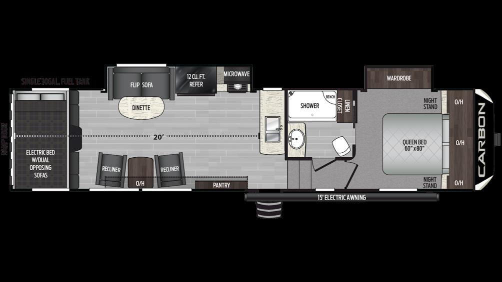 2019 Carbon 349 Floor Plan Img