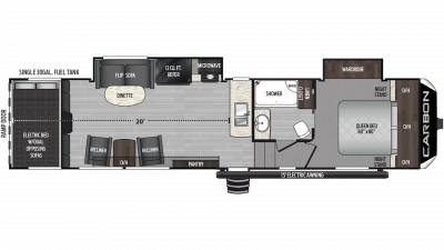 2019 Carbon 349 Floor Plan Img