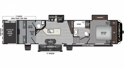 2019 Carbon 357 Floor Plan Img