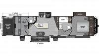 2019 Carbon 357 Floor Plan
