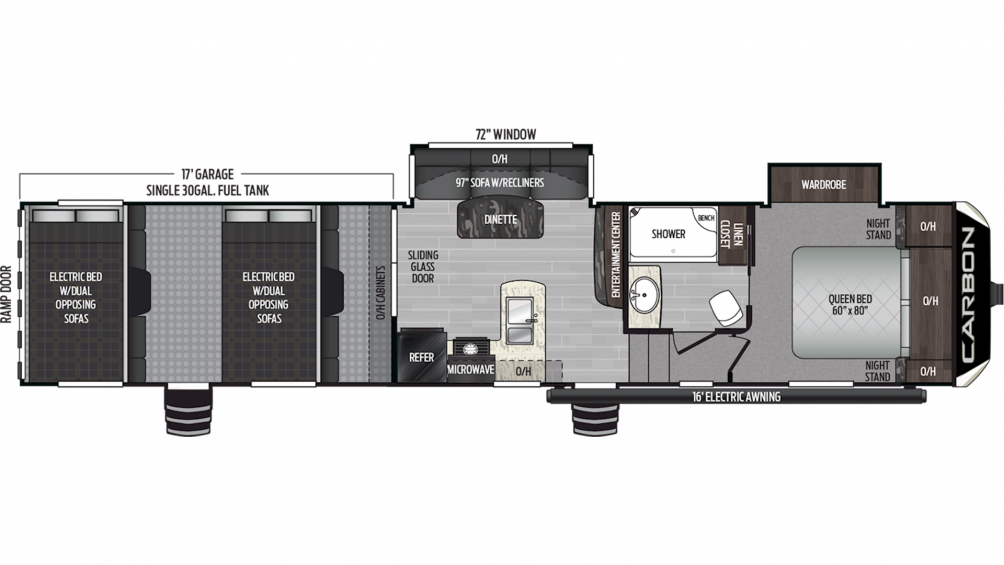 2019 Carbon 387 Floor Plan Img