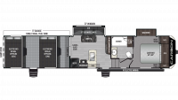 2019 Carbon 387 Floor Plan