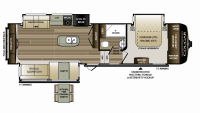 2019 Cougar 311RES Floor Plan