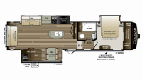 2019 Cougar 338RLK Floor Plan