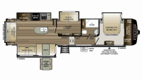 2019 Cougar 368MBI Floor Plan