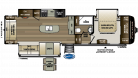 2019 Cougar 315RLS Floor Plan