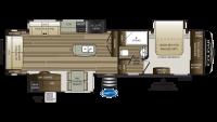 2019 Cougar 338RLK Floor Plan