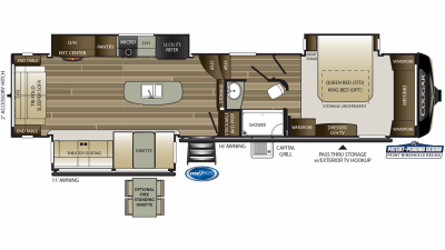 2019 Cougar 361RLW Floor Plan Img