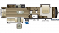 2019 Cougar 361RLW Floor Plan