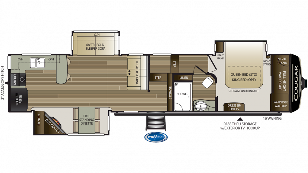 2019 Cougar 362RKS Floor Plan Img