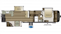 2019 Cougar 362RKS Floor Plan