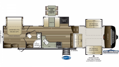 2019 Cougar 367FLS Floor Plan Img