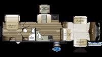 2019 Cougar 367FLS Floor Plan