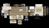2019 Cougar 369BHS Floor Plan