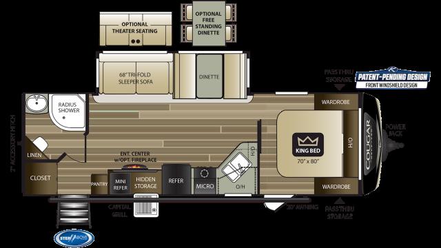 2019 Cougar Half Ton 26RBS Floor Plan Img