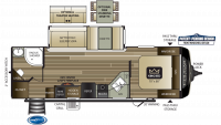 2019 Cougar Half Ton 26RBS Floor Plan