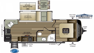 2019 Cougar Half Ton 26RKS Floor Plan Img