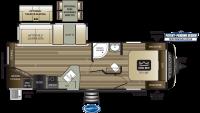 2019 Cougar Half Ton 27RES Floor Plan