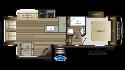 2019 Cougar Half Ton 27SGS Floor Plan Img
