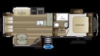 2019 Cougar Half Ton 27SGS Floor Plan