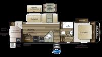 Cougar Half Ton 29RDB Floor Plan