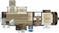2019 Cougar Half Ton 29RKS Floor Plan