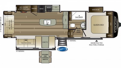 2019 Cougar Half Ton 30RLS Floor Plan Img