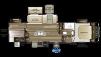 2019 Cougar Half Ton 32DBH Floor Plan