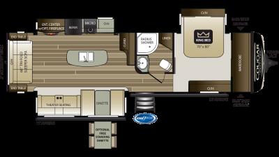 2019 Cougar Half Ton 32RLI Floor Plan Img