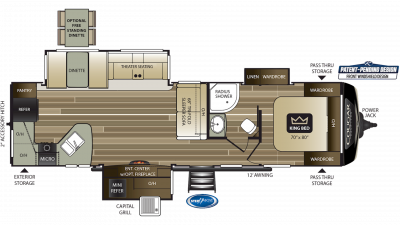 2019 Cougar Half Ton 33MLS Floor Plan Img