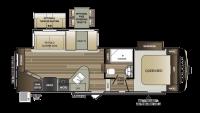2019 Cougar Half Ton 25RES Floor Plan