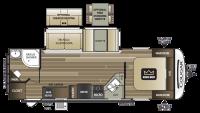 2018 Cougar Half Ton 26RBS Floor Plan