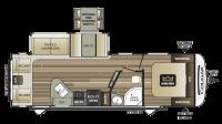 2019 Cougar Half Ton 27SAB Floor Plan