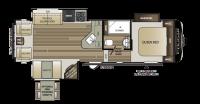 2019 Cougar Half Ton 28SGS Floor Plan