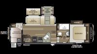 2019 Cougar Half Ton 29RDB Floor Plan