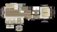 2019 Cougar Half Ton 29RES Floor Plan