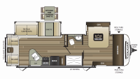 2019 Cougar Half Ton 29RLD Floor Plan