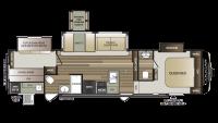 2019 Cougar Half Ton 32BHS Floor Plan