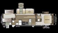 2018 Cougar Half Ton 32BHS Floor Plan