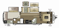 2019 Cougar Half Ton 32RDB Floor Plan
