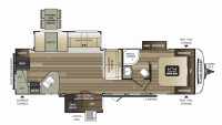 2019 Cougar Half Ton 33MLS Floor Plan