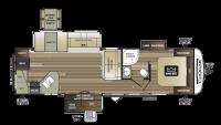 2019 Cougar Half Ton 33MLS Floor Plan