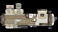 2019 Cougar Half Ton 33SAB Floor Plan