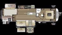 2019 Cougar Half Ton 34TSB Floor Plan