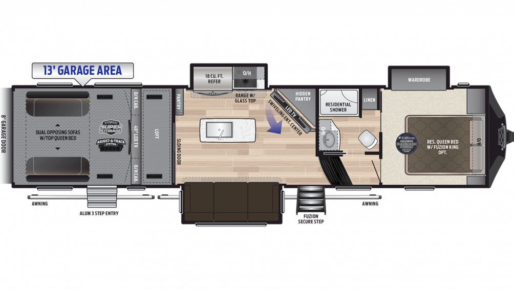2019 Fuzion 357 Floor Plan Img