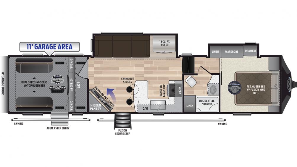 2019 Fuzion 369 Floor Plan Img