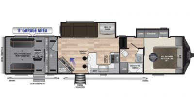 2019 Fuzion 369 Floor Plan Img